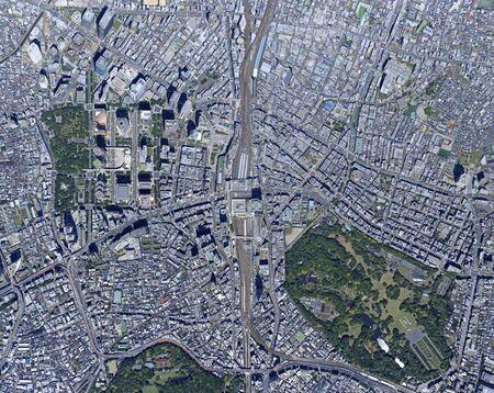 Shingo over Shinjuku, aerial photography