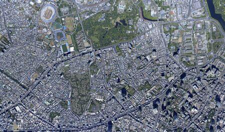 Shingo over Akasaka, aerial photography