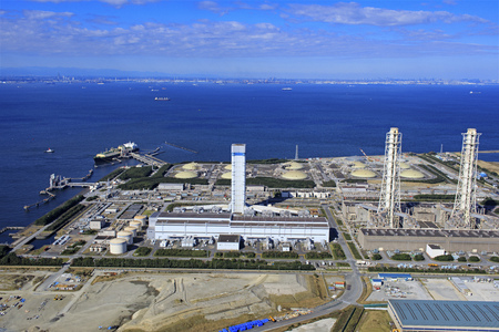 Kisarazu Thermal Power Plant, TEPCO Thermal Power Plant, Aerial Photography