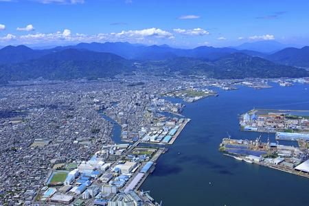 Omaezaki Fishing Port, Aerial Photography 版權商用圖片 - 134817930