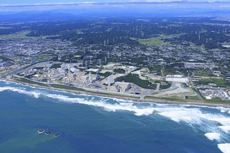 Nuclear power plant, Hamaoka nuclear power plant, aerial photograph 版權商用圖片 - 134817940