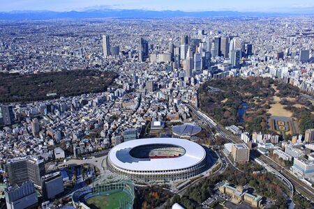 National Stadium and Shinjuku Sub-Center, Aerial Photography, 2019 Shooting