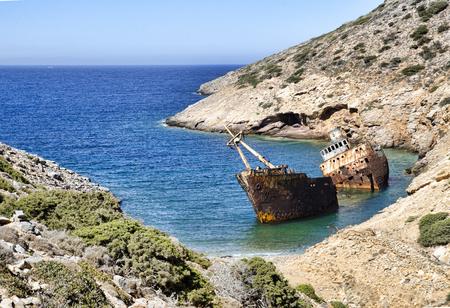 wreck: Olympia wreck in amorgos