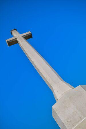 majorca: Chris cross symbols with blue background