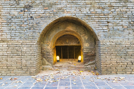Brick window with lighting
