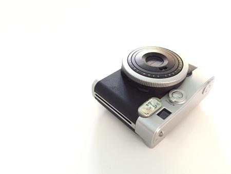Bangkok,Thailand-Circa FEB 2019: digital instance camera or Polaroid camera of Fujifilm company on white background