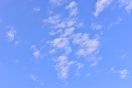 space of Blue sky and white cloud