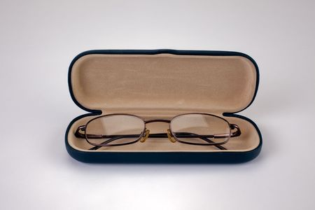 A pair of reading glasses in a case. Stock Photo - 6775475