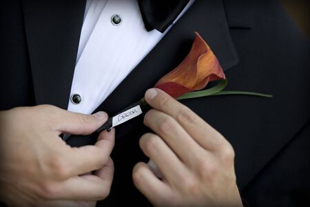 boutonniere: Groom with Boutonniere