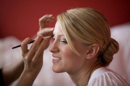 Applying Makeup Stock Photo