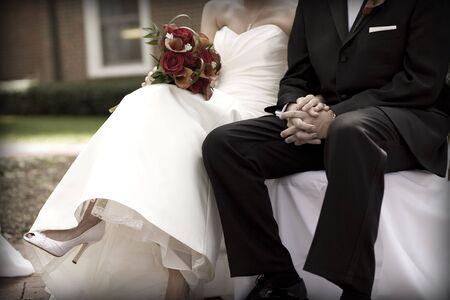 Bruid en bruidegom op Ceremony