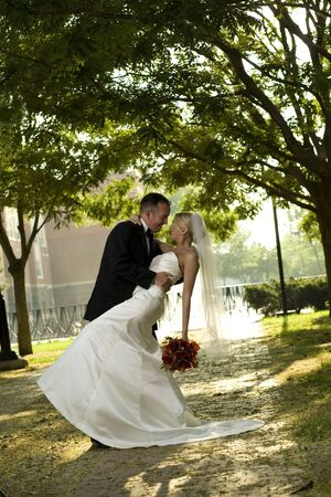 Bruid en bruidegom  Stockfoto