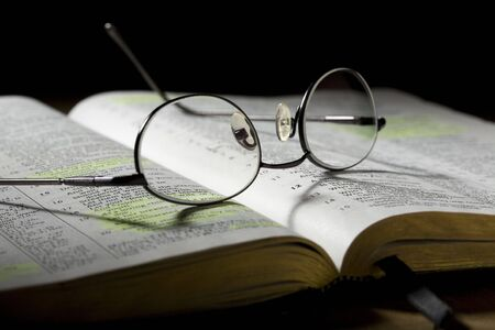 Bible with Eyeglasses photo