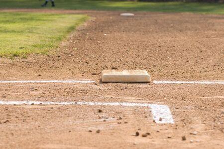 softbol: Base de b�isbol  Foto de archivo
