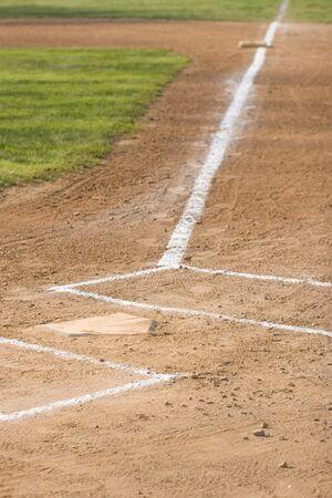 야구장 홈 플레이트 스톡 콘텐츠