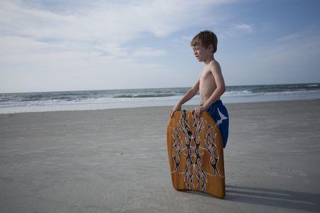 Jonge jongens op de Beach  Stockfoto