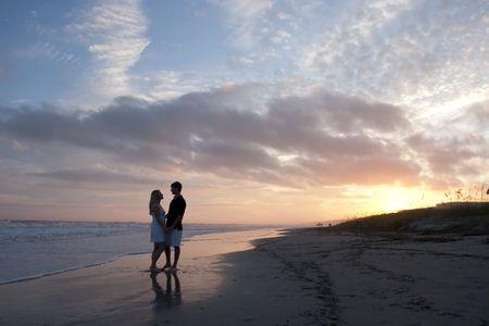 Young Couple at the Beach photo