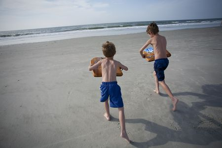 Young Boys at the Beach Stock Photo - 7402069