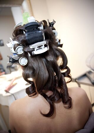 Hair in Rollers photo