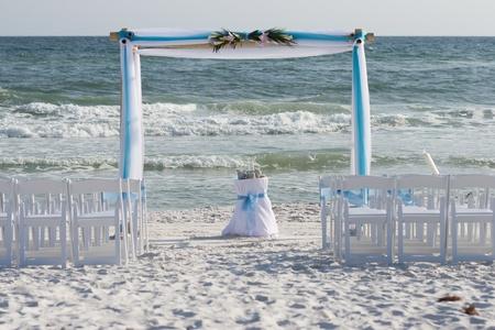 Huwelijk van het Strand Woonplaats Stockfoto