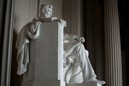 abraham lincoln: Lincoln Memorial in Washington D.C.