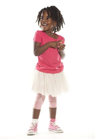 little girl smiling: Cute Little Girl Stock Photo