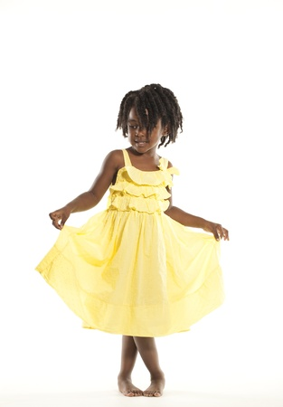 ethnic dress: Carino Bambina Archivio Fotografico