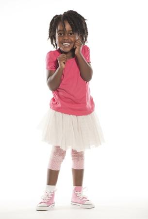 귀여운 작은 소녀 스톡 콘텐츠