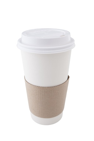 Coffee Cup op witte achtergrond Stockfoto
