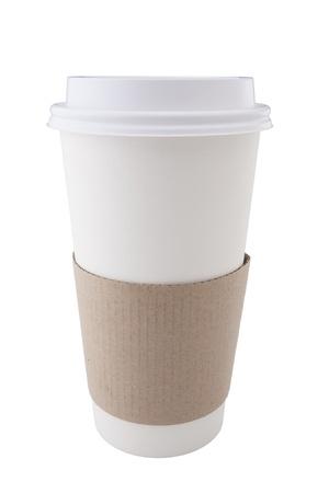 Coffee Cup on White Background photo