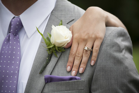 Bride s Hand with Wedding Ring photo