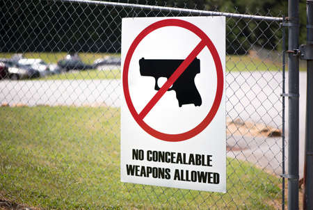 Gun Control Sign at Workplace