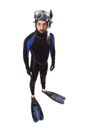 Scuba Diving Male Imagens