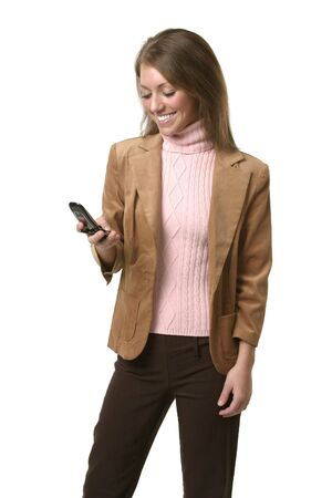 businesswoman dialing her cell phone Stock fotó
