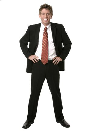Businessman in a suit with pwer tie. Imagens
