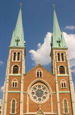 spires: Catholic Church Spires Stock Photo