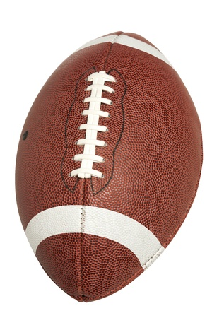 college football: American High School or Collegiate Football  Stock Photo