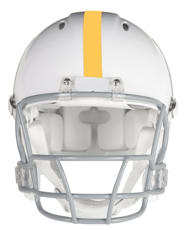 Front view of a football helmet