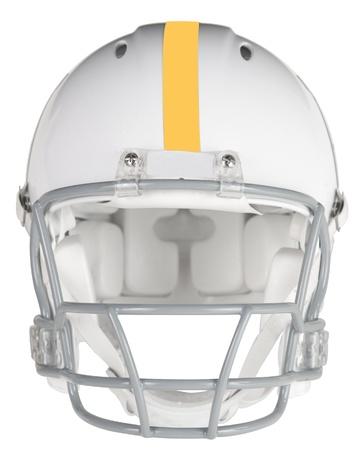 football helmet: Front view of a football helmet