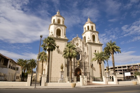 az: St. Augustine Cathedral in the El Presidio district of downtown Tucson, AZ. Stock Photo