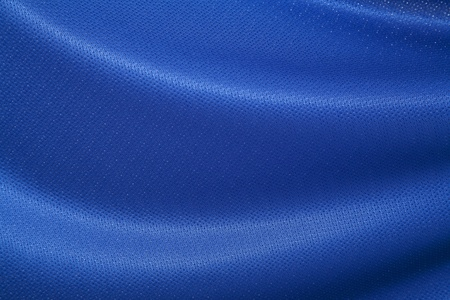 fabric texture: closeup of blue jersey fabric texture Stock Photo