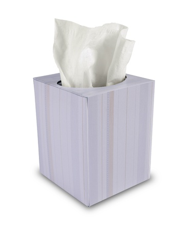 single box of tissue paper on white background