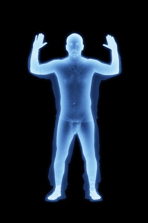 Representation of an uncensored TSA Airport Backscatter Body Scan Stock Photo - 11846956