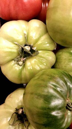 heirloom: Fresh heirloom tomatoes Stock Photo