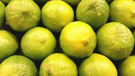 ripe: Fresh ripe green limes