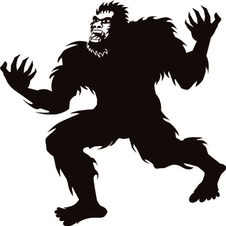 Bigfoot Sasquatch screaming howling silhouette