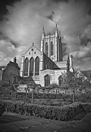 bury: Bury st edmunds Cathedral  Stock Photo