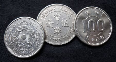 100 yen coins in excellent condition Banco de Imagens