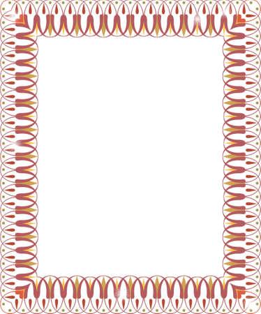 Grenze oder Frame for Scrapbook und Collage crafts Standard-Bild - 8190247