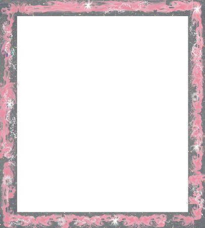 Cadre ou bordure pour l'artisanat de scrapbooking et de collage Banque d'images - 8190246